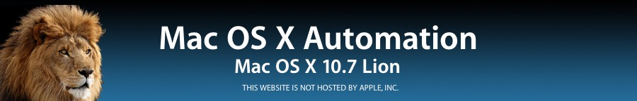 Mac OS X 10 7 Lion Automation Release Notes